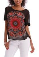 2014 Summer women clothing  Desigual  t shirt Print  t shirt casual colorful  ladies women blouse fashion tops for women  DG070