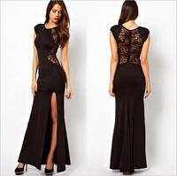 5795 Women Summer Dress 2014 White Sleeveless Top Crochet Sexy Party Dresses Lace Casual Women Dress Vestidos Plus Size