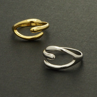 retail Metalwork 2014 New Modern Design Knuckle Rings Gold Plated Cute Adjustable Lucky Wishbone Ring for Bridesmaid Gift