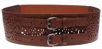 Woman Elastic Cummerbund Fashion Wide Belts for women Double buckle Brand designer 2 Colors Cintos Cinturon N273 New arrival