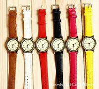 Martian man 2014 new arrival fashion Korean fashion big header Roman numerals belt watches free shipping D0070