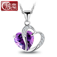 Hot Sale!!Free Shipping 925 Silver Necklace,Fashion Sterling Silver Jewelry zircon Necklace