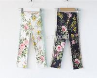 5pieces/lot, Autumn Baby floral Leggings, Kids Girls lacework Legging,  A-ab028