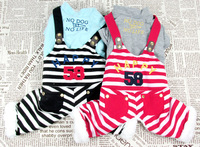 Retail  Striped Letter Design Pet Dogs Coat Free Shipping Dogs clothes 2014 new clothing for dog