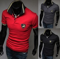 2014 new men short sleeve shirt scotch soda mens camisa masculina polo mans blouses