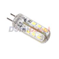 2014 NEW G4 LED DC 220V 3W 24Leds 3014 SMD Chip 3w Led Bulb Crystal Silicone Corn Light Led Lamps 360 Degree Non-Polar White