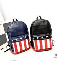 New bag 2014 Fashion Backpack bag canvas printing flag School bag National Flag College Windstar female