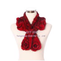 BG30453 Genuine Knitted Mink Fur Scarf Women Pashmina Scarf Wholesale Retail Knitted Fur Scarf For Women