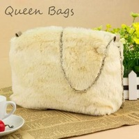 High quality 2014 Popular Women Famous brand Fur Handbag Fashion elegent messenger  Bag Ladies party Clutch Bag S4572