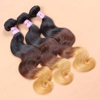 Wholesale Virgin brazilian body wave ombre hair 10pcs/lot  Grade 8A best hair weave 12-28 inch unprocessed virgin hair