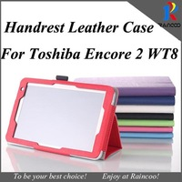 New arrival for Toshiba Encore 2 wt8 Handrest Leather protective cover pouch,for encore 2 leather stand case,free ship