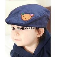 5 Colors Lovely Bear Label BOY&GIRL Beret Children Autumn Hats Kids Baseball Hat Cap Baby Sprot Hats 1pc Free Shipping MZC-14061