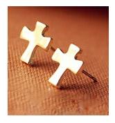 ES773 Hot New Fashion European And American Big cross Earrings Mischa Barton Wishing Clavicle Wholesale