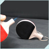 10pcs Ping pong racket bat Shaped Portable Inflatable Windproof Lighter Butane Gas Cigarette Lighters With Key ring & Light