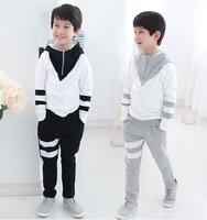 Wholesale fall 2014 new handsome boy who suit cuhk children's color matching zipper suit