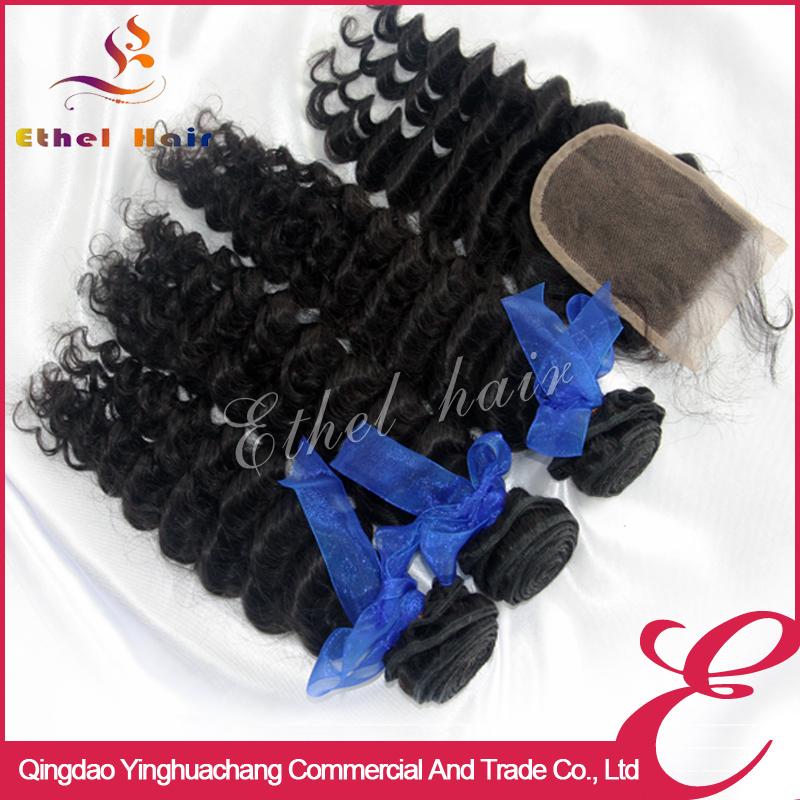 Best peruvian wet and wavy virgin hair 3 bundles closure free shipping Cheap deep wave sale virgin hair aliexpress coupons(China (Mainland))