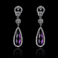 2014 Mysterious Fashion Glass Rhinestone Water Drop Earrings For Women's Gift