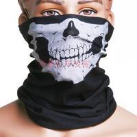 Motorcycle washouts skull muffler scarf skull collars multi purpose skull thin