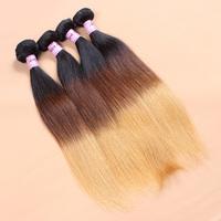 3pcs/lot virgin straight hair cheap price ombre hair weaves Grade 8a 10-28 inch virgin hair bundles free shipping