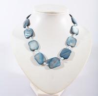 Light Blue Ingot with Pearls