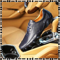 2014 England new fashion breathable genuine leather  men's leather men's leather shoes to help low leather driving shoes