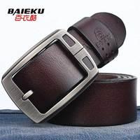 Baieku roadster buckle male genuine leather belt pure cowhide casual pin buckle