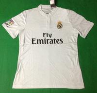 Top! Best Thai Quality 14/15 Real Madrid Soccer Jerseys,real Madrid 2015 shorts ronaldo BALE KROOS JAMES Jerseys shirt