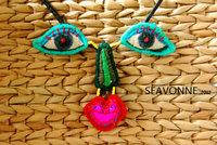 SEAVONNE fashion necklaces for women 2014 face Ethnic handmade necklace pendant necklace long necklace