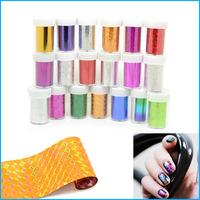 2014 HOT Mix Colors Nail Art Transfer Foil Nail Sticker Decals 6 Rolls/Lot