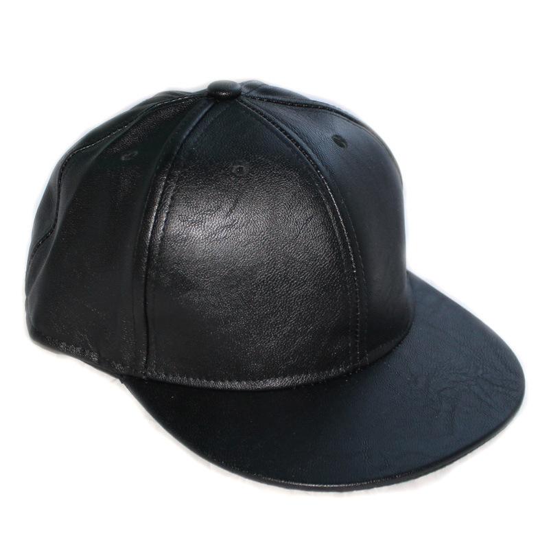 new fashion unisex casual snapbacks hats black blank pu