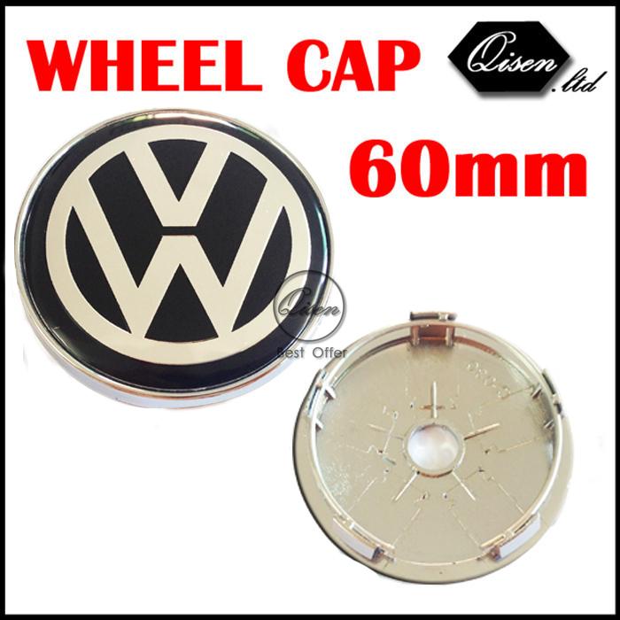 4 X 60MM BLACK CAR WHEEL Hub Center LOGO Caps Metal Aluminum emblem Fits for VW Golf 6 Jetta MK5 MK6 POLO passat B5 B6 B7 #SO266(China (Mainland))