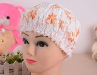 free shipping 2014 Japanese Garden floral thick waterproof cap ring protection hair cap head cap