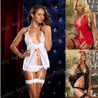 Wholesale Cheap Sexy Coup De Foudre Mini Dress Red /White/Black Babydoll Lingerie