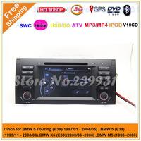 Free shipping Car DVD for BMW/E39 X5 E53 with DVD GPS Navigation Radio ATV Stereo Audio IPOD Bluetooth 3G WIFi Free map