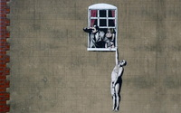 100% Hand-painted Banksy  Painting on Canvas Modern Wall Art Reproduction No frame