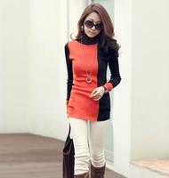 Winter  female basic turtleneck shirt slim all-match Women  long-sleeve T-shirt  autumn girl cloth