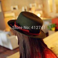 Fashion Womens Mens Black Fedoras Unisex Boy Girl Panama Homburg Jazz Hats Caps Headwear Free Shipping WC-365