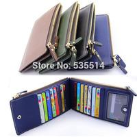 Women Lady Pu Leather Long Wallet Purse Clutch Handbag Bag Button Zip