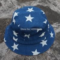 Free shipping cheap and high quality star denim blank bucket hat cap custom headwear