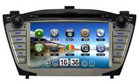 Hot sell car dvd player for Hyundai ix35 / tucson 2009-2012 GPS,Bluetooth,IPod,Radio,TV,3G USB Host, Free GPS Map +Free shipping