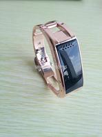 2014 The newest  Smart bracelet bluetooth 4.0 metal smart wrist Pedometer Sleep Monitoring  phone companion