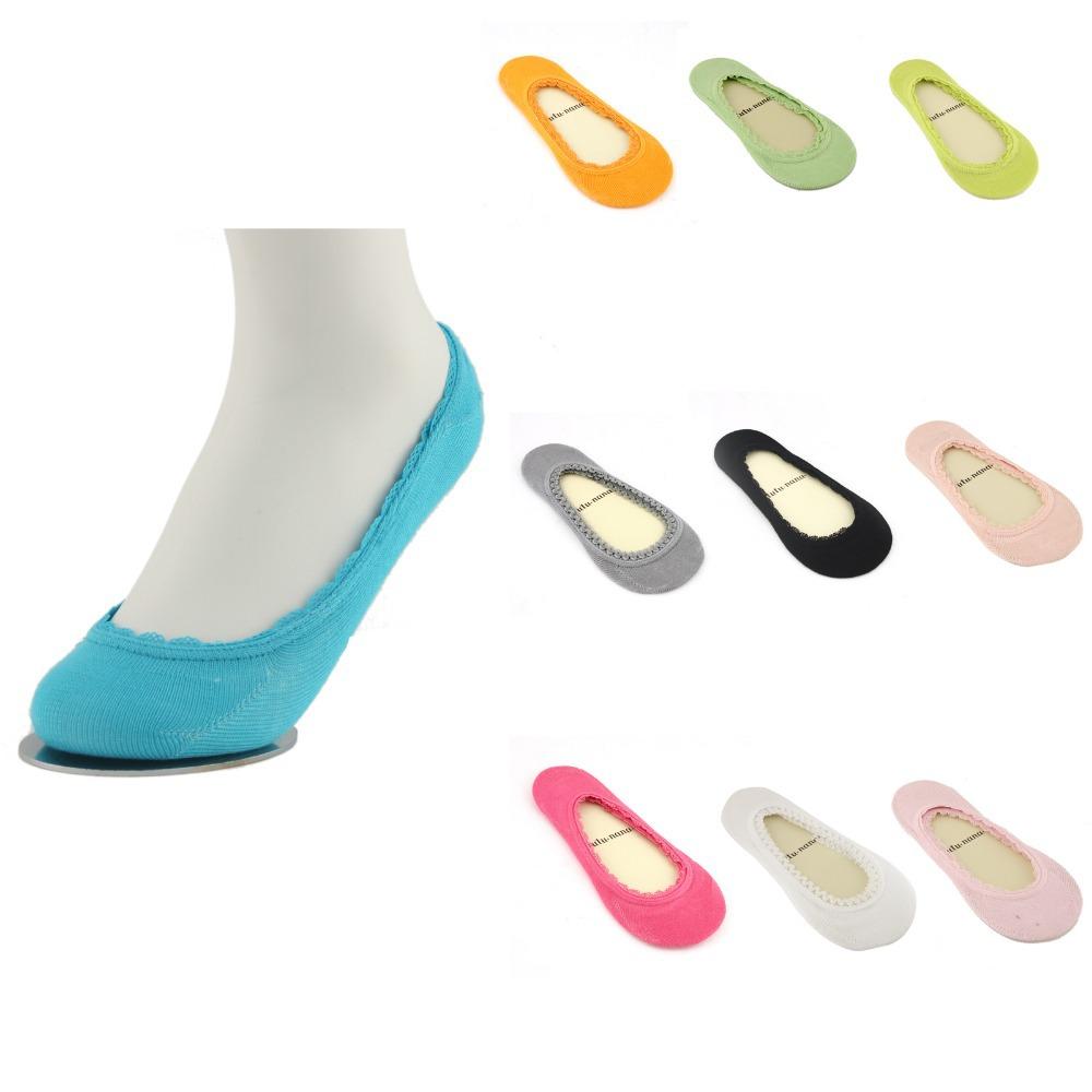 1 Pair Women Liner Socks No Show Peds Boat Ballet Plain Footies Cotton Low Cut 73283-73292(China (Mainland))
