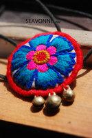 SEAVONNE fashion necklaces for women 2014 flower Ethnic handmade necklace statement necklace long necklace pendant necklace