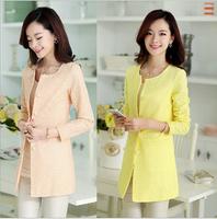 2014 New Fashion women's Slim Long Coat Women Blazer Plus Size Women Trench Coat Women's Coats M-XXXL Free Shipping AS1448