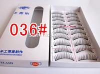New Arrival 036# Pure Handmade Natural Synthetic Hair False Eyelashes 10set/lot