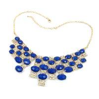 Crystal Acrylic Bib Statement Necklace Sale Retro Vintage European Style Fashion For Women