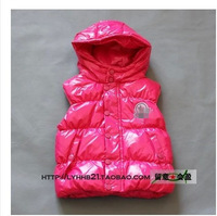 2014 new autumn & winter girls &boys European style brand down hooded waistcoats & vests baby &kids desinger outerwear 3 color