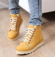 2014 women autumn winter martin boots flat heel platform casual lace-up large pluse size 40-43 shoes