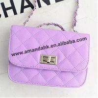 100pcs/lot fashion chain Quilted messenger bag fresh handbag pu ling han edition mini shoulder bags free shipping