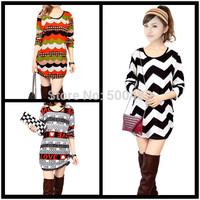 Womens dress Fashion 2014,16 Style Women's Printed Brands Plue SizeM- XXL,XXXL 4XL Crop Top  Discounts autumn 2014 dresses